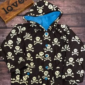 Hatley Skull & Bone Raincoat Size 4